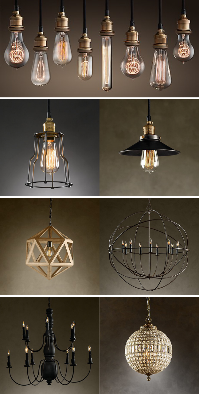 restoration hardware lighting design notations