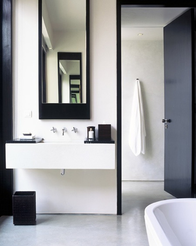 Black and white bathrooms design notations - Black and white bathroom designs ...