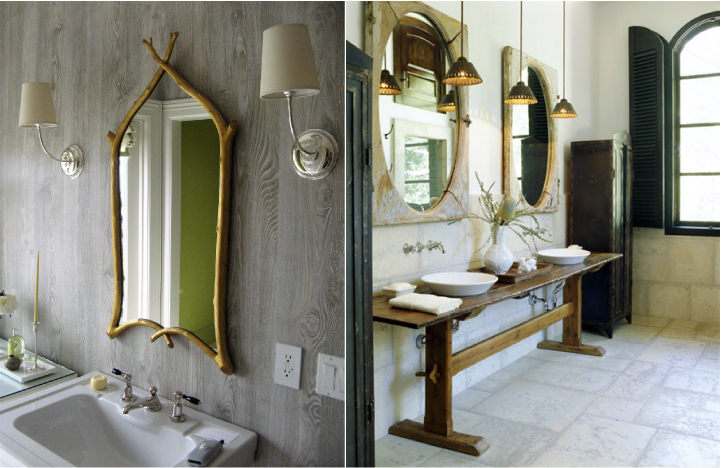 brass and gold light fixture at bathroom